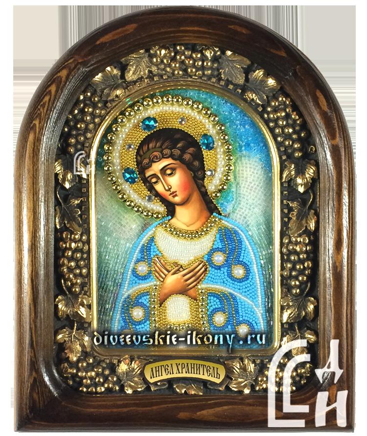 Ангел Хранитель икона из бисера