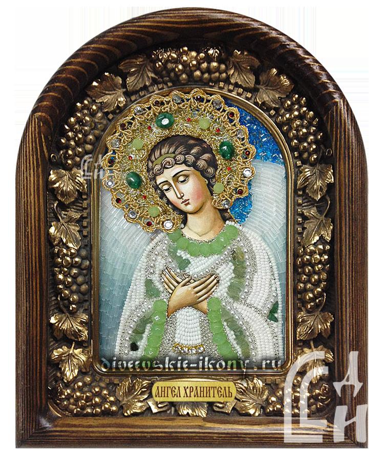 Икона Ангела Хранителя бисером из дивеево