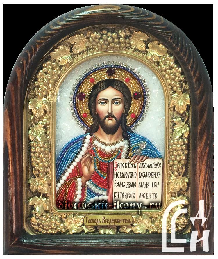 Икона - Господь Вседержитель бисером