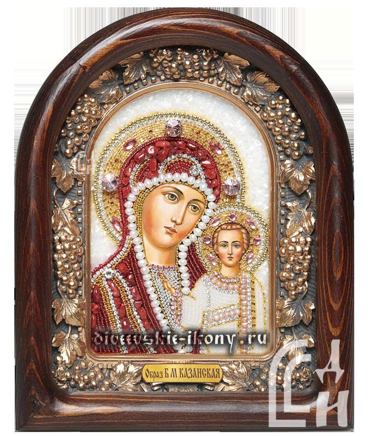 Казанская Божия Матерь-икона бисером