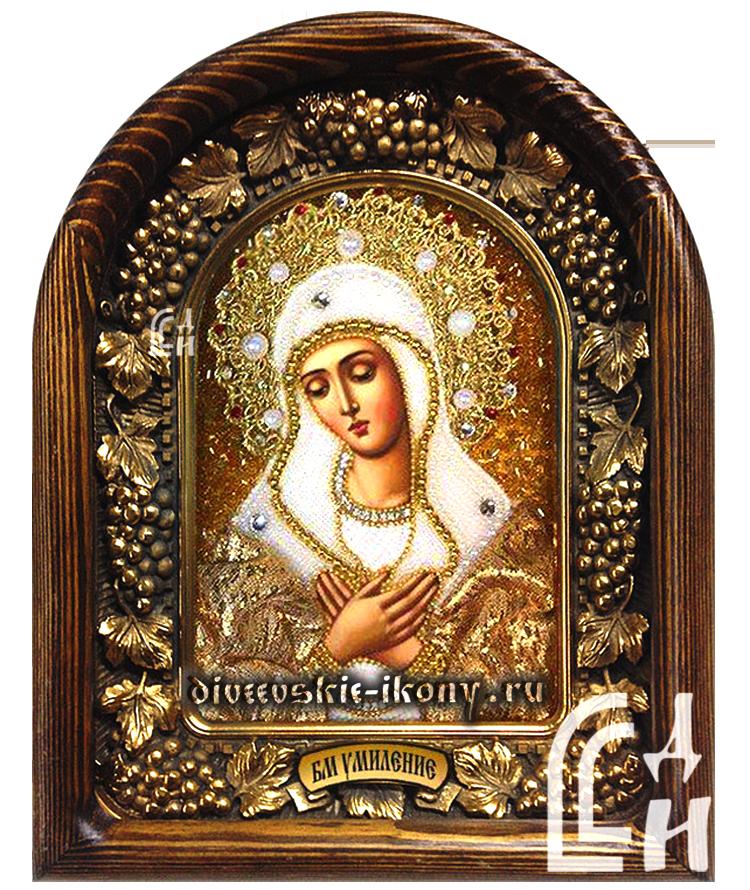 Икона Божией Матери Умиление в золотом