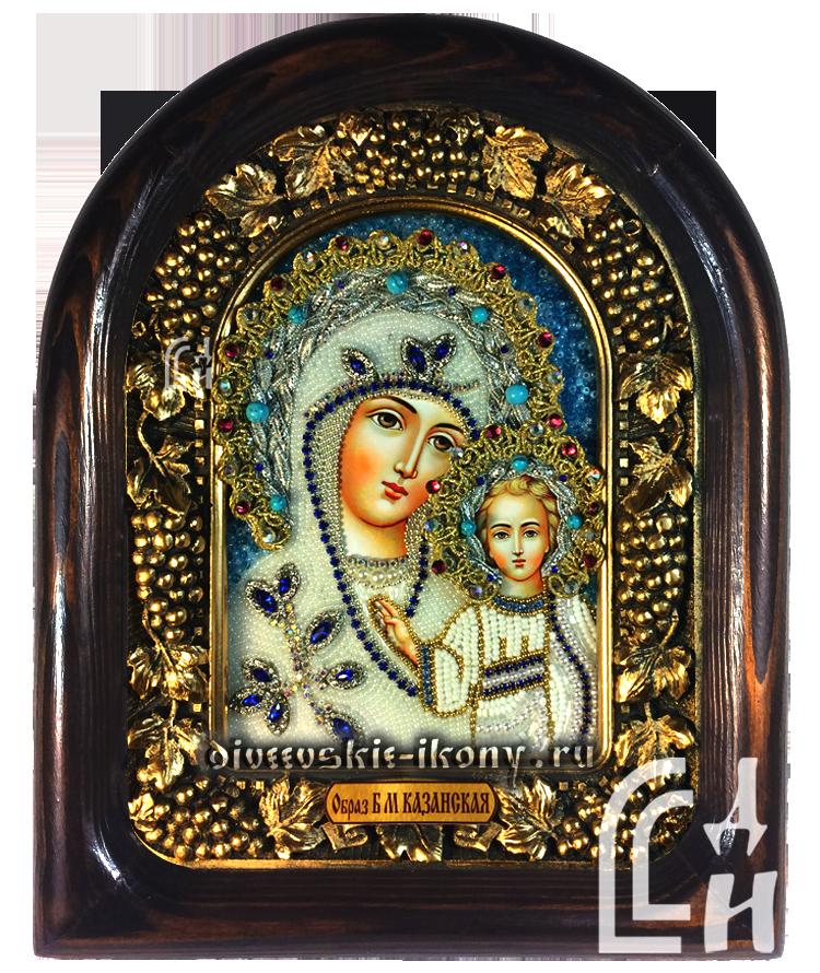 Образ Казанской Божией Матери на синем