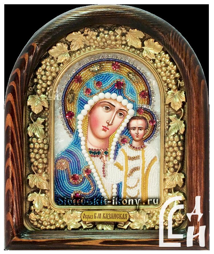 Казанская Божия Матерь икона бисером