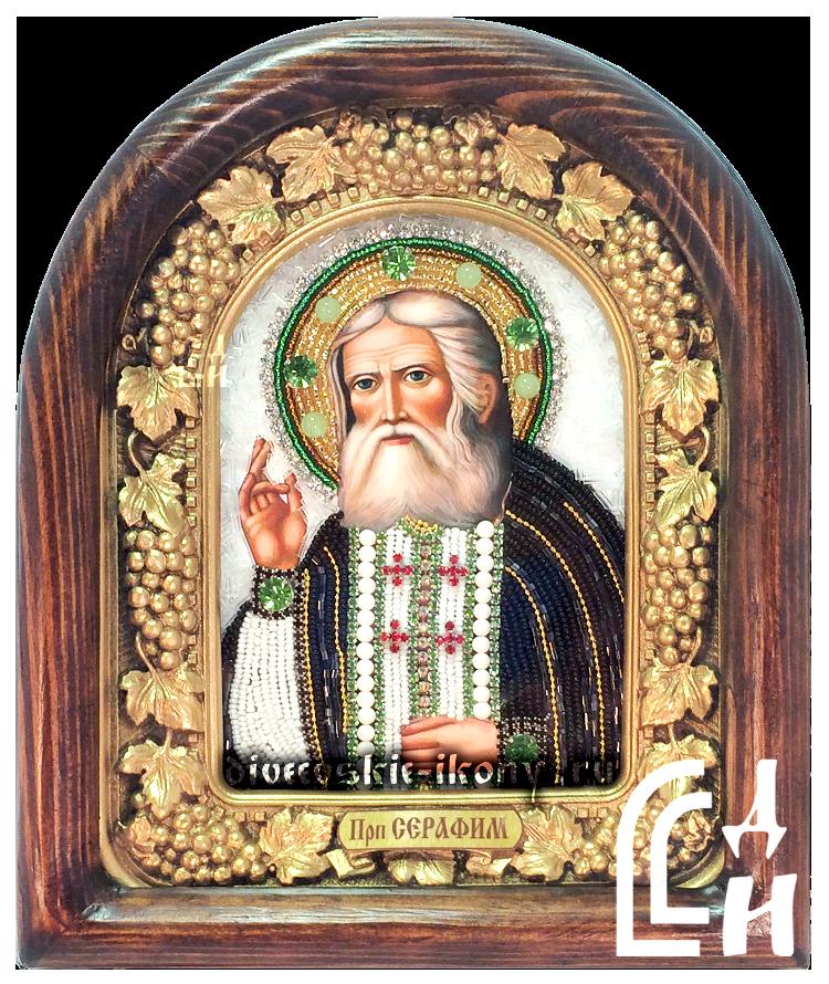 Икона бисером Серафим Саровский