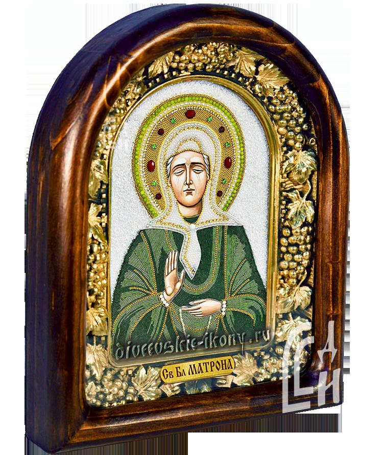 Святая Блаженная Матрона в зелёно-салатовом