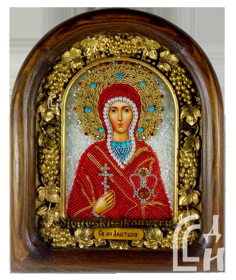 Святая мученица Анастасия Дивеевская икона из бисера