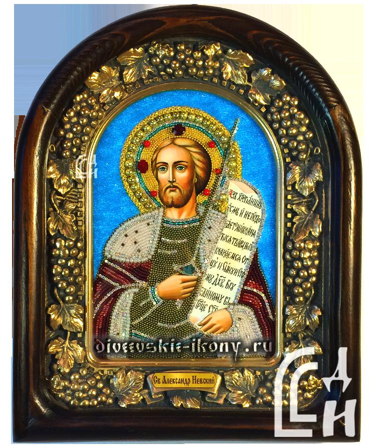 Икона из бисера Святой Александр Невский