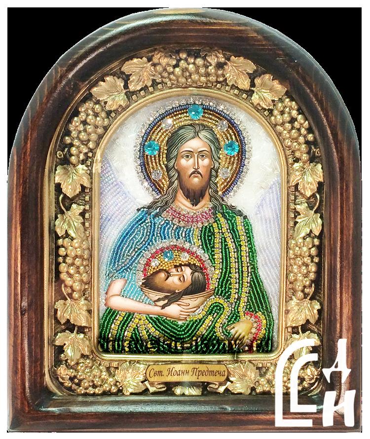 Иоанн Предтеча икона бисером