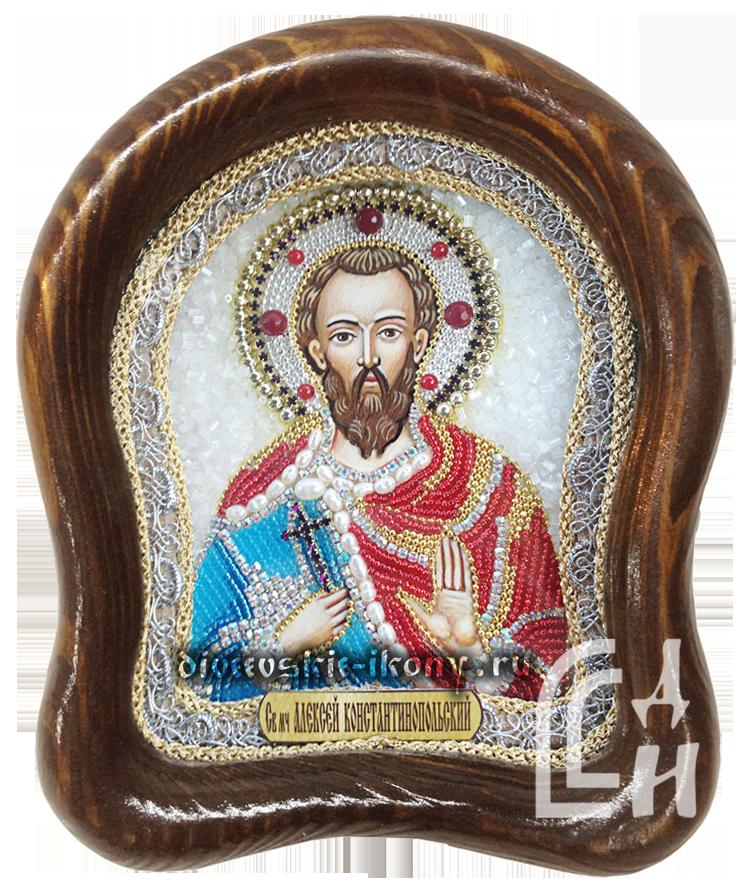 Алексей Константинопольский икона из бисера