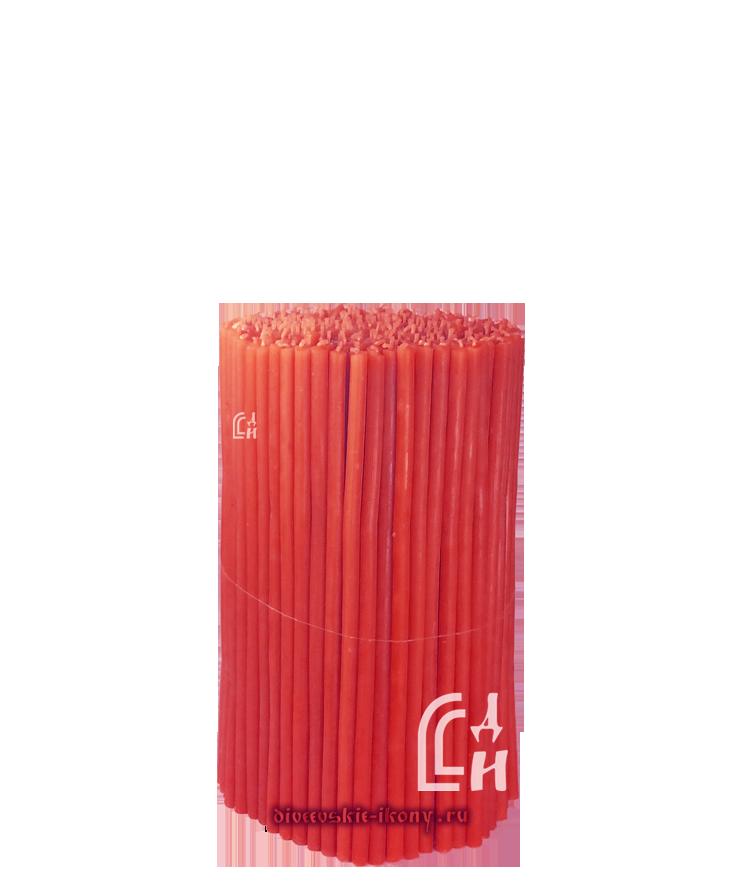 Красные церковные восковые свечи №100 (Ивановские) – 1 кг