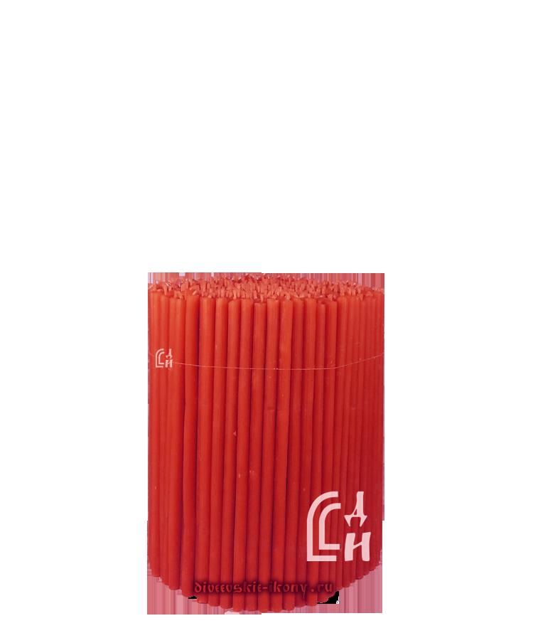 Красные церковные восковые свечи №140 (Ивановские) – 1 кг