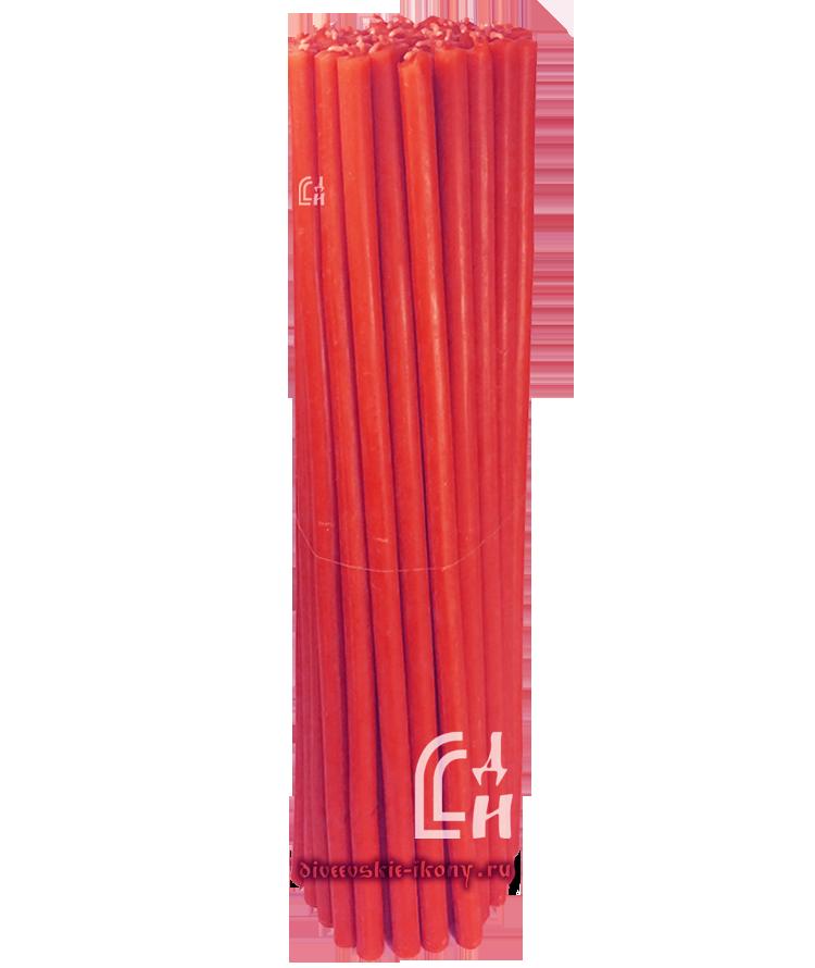 Красные церковные восковы свечи №20 (Ивановские) – 1 кг