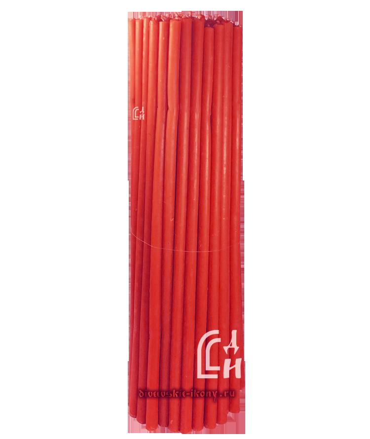 Красные церковные восковые свечи №30 (Ивановские) – 1 кг