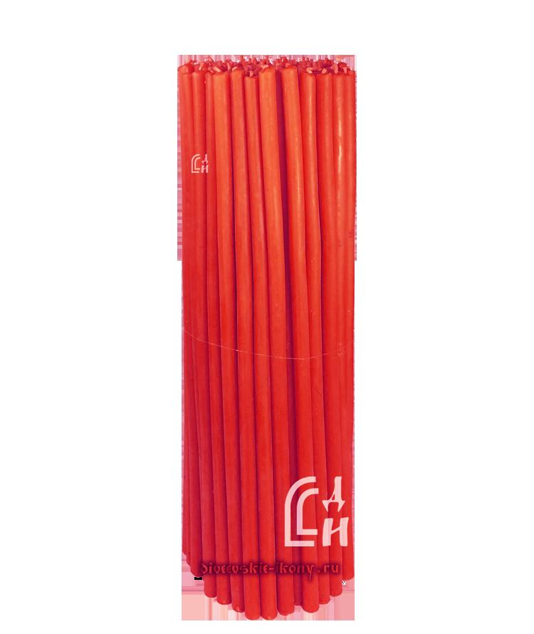 Красные церковные восковые свечи №40 (Ивановские) – 1 кг