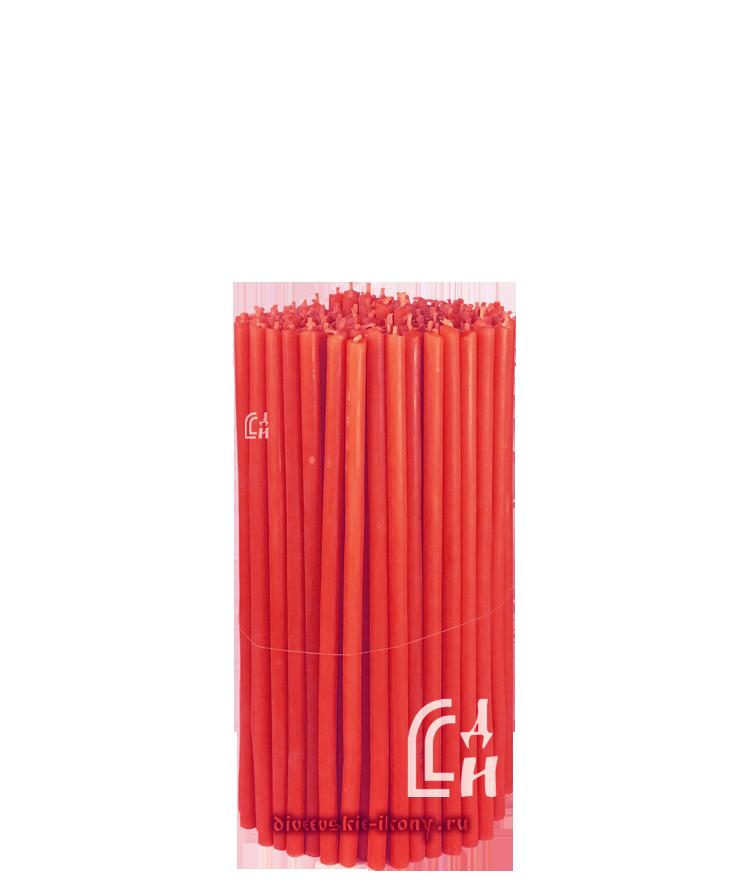 Красные церковные восковые свечи №80 (Ивановские) – 1 кг