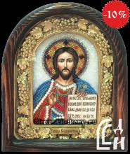 Икона — Господь Вседержитель бисером