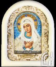 Дивеевская Икона Божией Матери Умиление в белом киоте