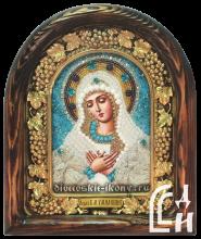 Икона Божией Матери «Умиление» бисером