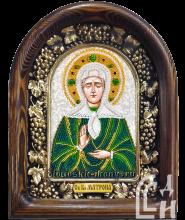 Святая Блаженная Матрона в зелёно-жёлтом