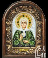 Святая Блаженная Матрона в тёмно-зелёном