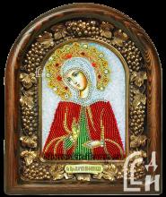 Святая Преподобная Мария Вифинская икона из бисера