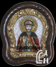 Икона из бисера Святого Благоверного Дмитрия Донского