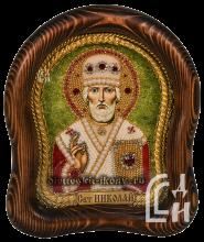 Николай Чудотворец икона бисером