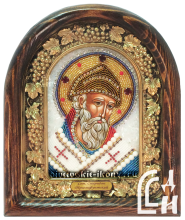 Спиридон Тримифунтский икона из бисера