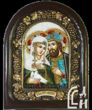 Дивеевская икона Святых Благоверных Петра и Февронии