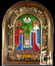 Икона из бисера Святые Благоверные Пётр и Феврония