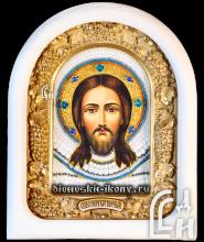 Икона Спас Нерукотворный в белом киоте