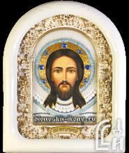 Дивеевская икона Спас Нерукотворный в белом киоте