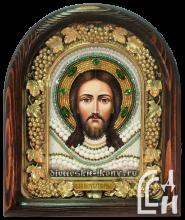 Икона  Спас Нерукотворный бисером