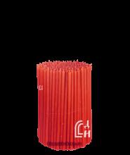 Красные церковные восковые свечи №120 (Ивановские) – 1 кг